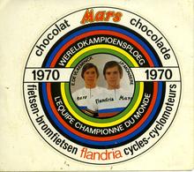 Autocollant Sticker 1970 Wielrennen Cyclisme Flandra Mars Kampioen E De Vlaeminck En JP Monsere - Autocollants