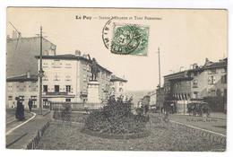 LE PUY EN VELAY  STATUE LAFAYETTE ET TOUR PANNESSAC - Le Puy En Velay