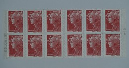 4197-C 10 Daté 08.06.09  Carnet 12 Timbres Marianne De BEAUJARD - Usage Courant