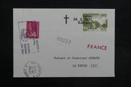 ROYAUME UNI - Enveloppe Par Poste Privée De Lutton Pour La France En 1971 - L 31536 - Postmark Collection
