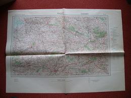 Carte Armée Allemande WWII Normandie Alençon Laval Vitré Avranches Argentan - 1939-45
