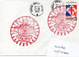 Remorqueur SAIRE Obl. Brest Naval 22/10/90 - Poste Navale