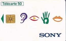 FRANCE  Sony  4 Symboles Télécarte Gem    De 50 Unités De 12 1996    Tirage  1 000 000 Ex - Advertising