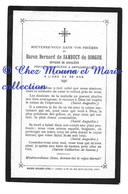 BARON BERNARD DE SAMBUCY DE SORGUE OFFICIER DE CAVALERIE - AVIS DE DECES 1909 BRUGAIROLLES AUDE- NE 1870 VILLEFRANCHE - Images Religieuses