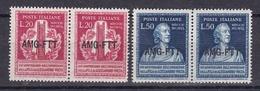 1949 Italia Italy Trieste A  ALESSANDRO VOLTA 2 Serie Di 2v. Coppia MNH** - Trieste