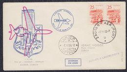 Yugoslavia 1965 Swissair First Flight From Zagreb To Zurich, Commemorative Cover - Luftpost