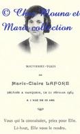 MARIE CLAIRE LAFORE - AVIS DE DECES 1964 MARQUEIN AUDE A 19 ANS - Images Religieuses