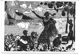 3080e: Neujahrsgrüße 1962 Aus Wien- Kunst- AK , Kühe Vor Den Pflug Gespannt - Kühe