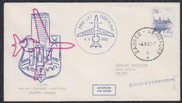 Yugoslavia 1965 First Flight From Zagreb To Milano, Commemorative Cover - Luftpost