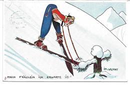 """3080g: AK St. Anton Am Arlberg Gest. 23.II.35, Skisport """"Mein Fräulein..."""" - Wintersport"""