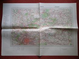 Carte Armée Allemande WWII Paris Beauvais Soissons Compiègne Meaux Senlis Creil - 1939-45