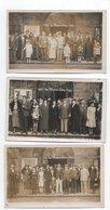 Le Mont Dore. Groupe De Curistes. 5 Cartes Photo. Années 30. - Le Mont Dore