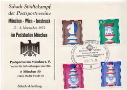 Postal History: Germany Card With Chess Cancel - Chess