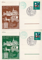 Postal History: Germany 2 Card With Special Cancel - Post