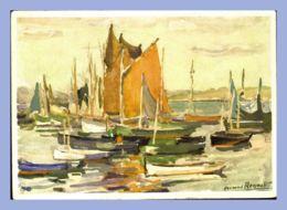 CPM -  Illustration (Fernand Regault) - 2352. Scène Marine - Mouillage - Voiliers - Altri