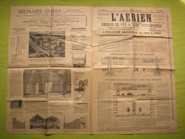 Journal L'Aérien Mai 1893 Chemin De Fer à Voies Superposées Pub Milinaire - Non Classificati