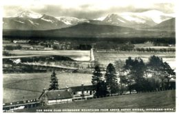 INVERNESS - THE SNOW CLAD CAIRNGORM MOUNTAINS FROM ABOVE NETHY BRIDGE RP Inv50 - Inverness-shire