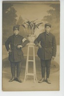GUERRE 1914-18 - ASIE - VIET NAM -Belle Carte Photo Soldats Infirmiers Annamites à L'Hôpital 58 De FONTAINEBLEAU - War 1914-18