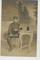 GUERRE 1914-18 - ASIE - VIET NAM -Belle Carte Photo Soldat Infirmier Annamite à L'Hôpital 58 De FONTAINEBLEAU - War 1914-18