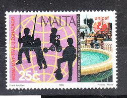 Malta - 1996. Unicef. Silouettes Di Bimbi Che Giocano. Children Playing. MNH - Giochi