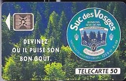 FRANCE  Suc Des Vosges    Télécarte De 50 Unités   SC4  De 12 1992   1.5K Ex. - Advertising