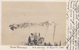 ISOLA DI GARDA-BRESCIA-LAGO DI GARDA-CARTOLINA VERA FOTOGRAFIA- VIAGGIATA IL 6-1-1906 - Brescia