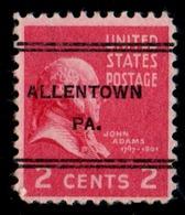 """USA Precancel Vorausentwertung Preo, Locals """"ALLENTOWN"""" (PA). - United States"""