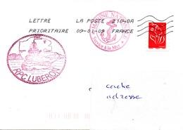 Remorqueur LUBERON Obl. La Poste 21048A 09/01/09 - Postmark Collection (Covers)