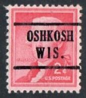 "USA Precancel Vorausentwertung Preo, Locals ""OSHKOSH"" (WIS). - Stati Uniti"
