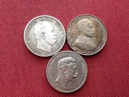 ALLEMAGNE Lot De 3 Monnaies De Mark  Argent - Other