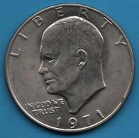 USA 1 DOLLAR 1971 Eisenhower Dollar  KM# 203 - Federal Issues