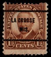 """USA Precancel Vorausentwertung Preo, Locals """"LA CROSSE"""" (WIS). - Stati Uniti"""