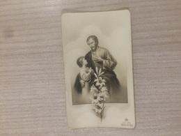Santino S. Giuseppe Con Gesu' Bambino In Ricordo Della Professione Religiosa Di S. M. Laura Breviglieri In Lugo (re) - Images Religieuses