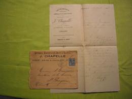 Facture + Enveloppe 1895 Imprimerie J. Chapelle Avignon - France