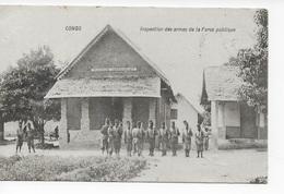 1 CPA 1908 Congo - Inspection Des Armes - Magasin D'armement - Congo - Brazzaville
