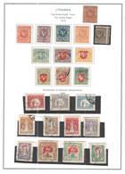 Lituania PO 1919 White Knight Vytis Thin White Paper  Scott.53+See Scan On Scott.Page;New - Lituanie