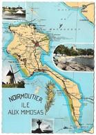85 Carte De Noirmoutier Ile Aux Mimosas (2 Scans) - Noirmoutier