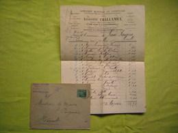 Facture + Enveloppe 1895 Libraire éditeur Challamel à Paris - 1800 – 1899