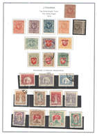 Lituania PO 1920 Anniv.Nat.Indipendenza   Scott.80/90+See Scan On Scott.Page;Used - Lituanie
