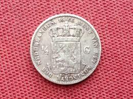 PAYS BAS Monnaie De 1/2 Gulden 1866 En Argent - [ 3] 1815-… : Royaume Des Pays-Bas