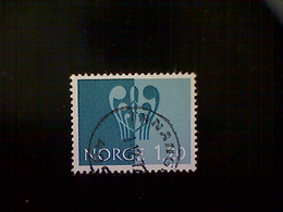"""Norway (Norge), Scott #593, Used (o), 1972, Youth Stamp Exhibition, """"Solidarity"""", 1.20k, Prussian Blue - Norway"""