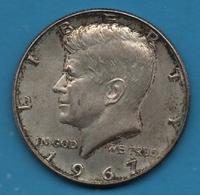 USA 1/2 DOLLAR 1967  Kennedy Half Dollar   KM# 202a  Argent 400‰ Silver - Bondsuitgaven