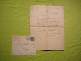 Facture + Enveloppe 1894 A. Desbat Paris - France
