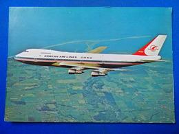 B 747  KOREAN AIR LINES     AIRLINE ISSUE / CARTE COMPAGNIE - 1946-....: Modern Era