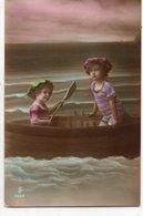 ENFANTS 702 : Petits Baigneurs Dans Une Barque ( Jolie Photo Montage ) - Children