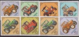Mongolia - Correo 1982 Yvert 1199/206 ** Mnh Tractores - Trasporti