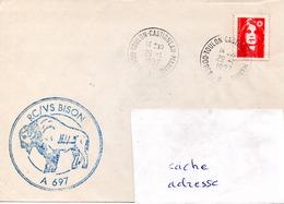 Remorqueur BISON Obl. Toulon Castigneau Marine 29/01/97 - Postmark Collection (Covers)