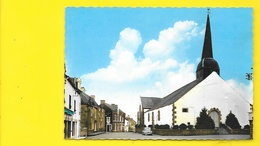 BEGANNE Rare Place De L'Eglise Peugeot 203 (Artaud) Morbihan (56) - Francia