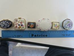 TI - Lot De 5  Boiteslaiton Porcelaine  - (pillulier , Boite à Tabac...) - Boxes