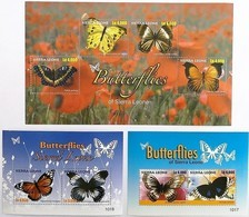 # Sierra Leone 2010**Mi.5363-70  Native Butterflies , MNH [16;88a] - Schmetterlinge